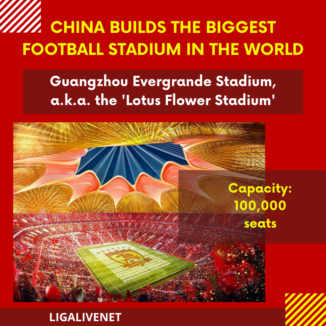 China builds the biggest football stadium in the world