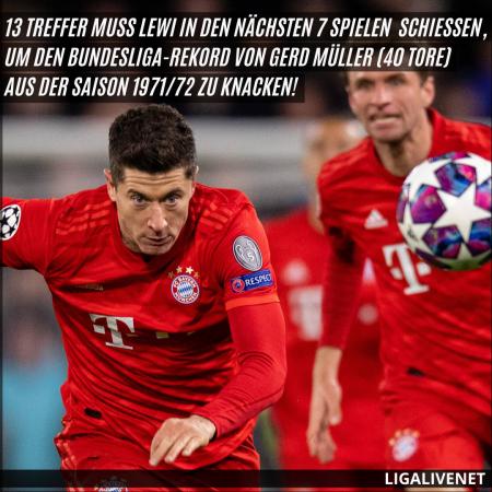 Lewandowski greift den Rekord an