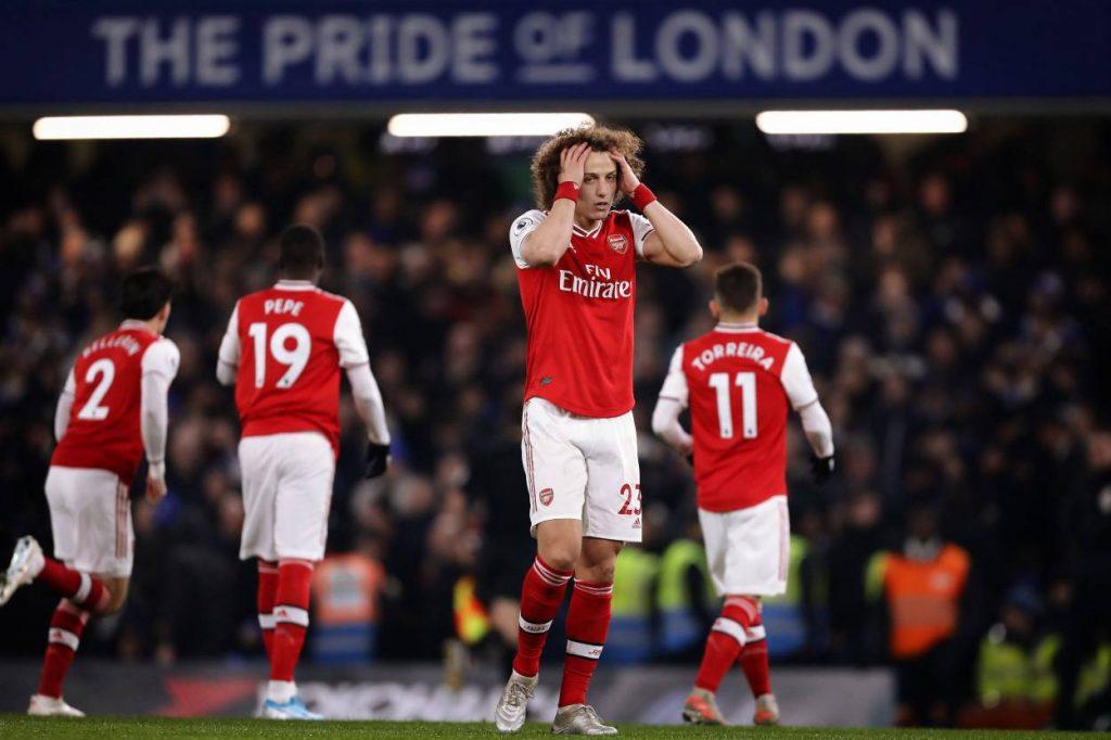 David Luiz's Arsenal future appears uncertain