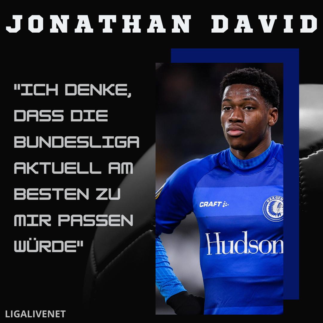 Jonathan David will in die Bundesliga
