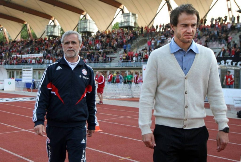 Gerd Müller (links) und Mehmet Scholl 2009 in Erfurt.