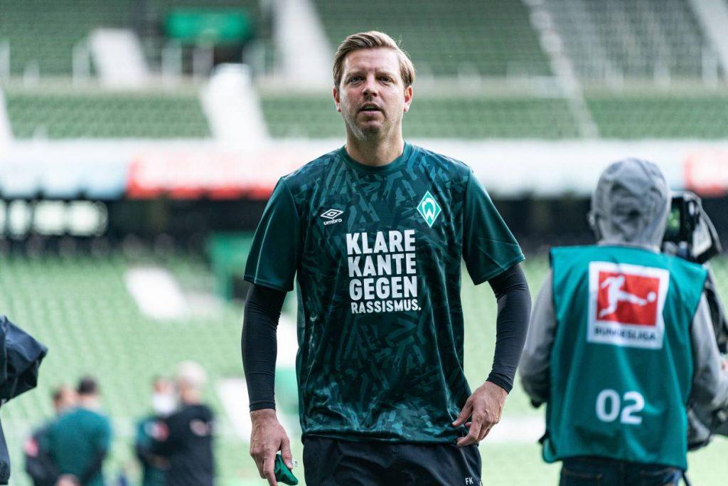 Florian Kohfeldt (Trainer SV Werder Bremen) vor dem Fußball-Bundesliga Spiel gegen den VfL Wolfsburg Saison 2019 / 2020