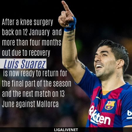 Suarez recovered from a knee surgery