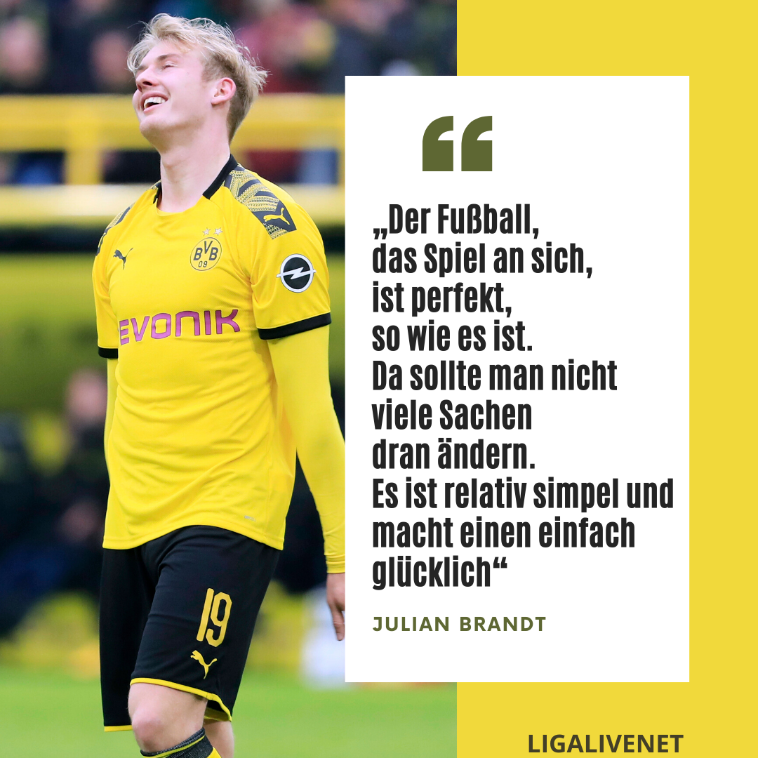 Julian Brandt über Fußball