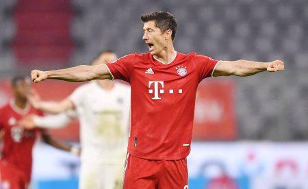 Robert Lewandowski FC Bayern München Eintracht Frankfurt 2:1