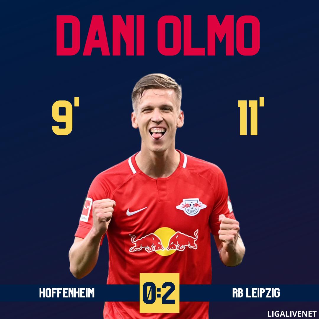 Dani Olmo entscheidet das Spiel gegen Hoffenheim mit zwei Toren und holt den Sieg für RB Leipzig