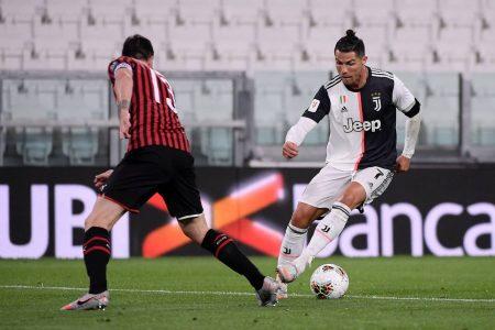 Cristiano Ronaldo (Juventus Turin) steht in Italiens Fußball im nationalen Pokalfinale. 0:0 im Halbfinal-Rückspiel der Coppa Italia im eigenen Stadion gegen den AC Mailand