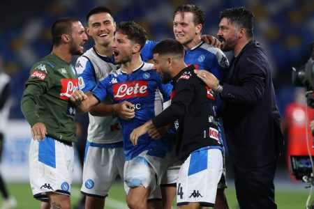 Mertens sends Napoli to the cup final