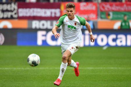 Florian Niederlechner (FC Augsburg). Fußball Bundesliga, 31.Spieltag, Saison 2019 / 2020.