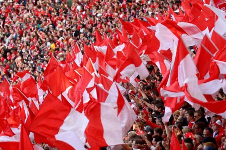 Fahne SC Freiburg.