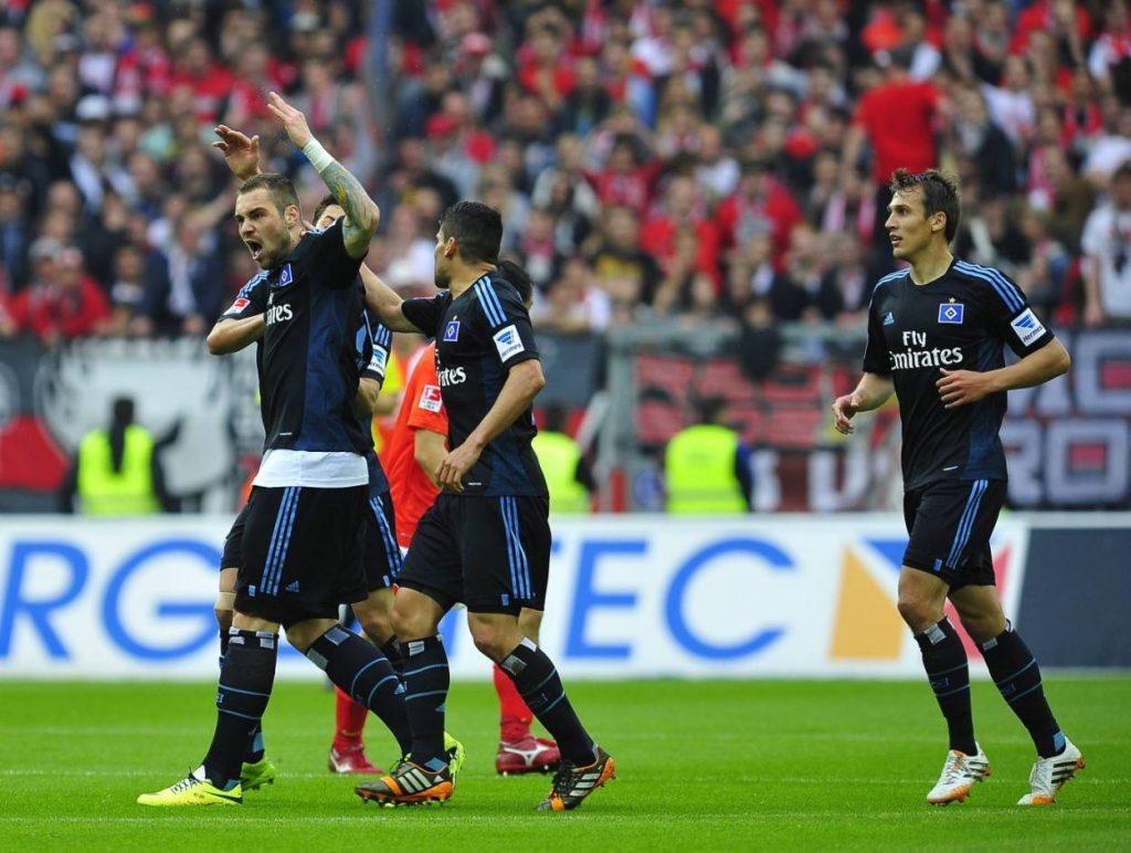 Sturm-Bulle Pierre-Michel Lasogga konnte den HSV im letzten Spiele 2013/2014 in Mainz (2:3) nicht pushen.