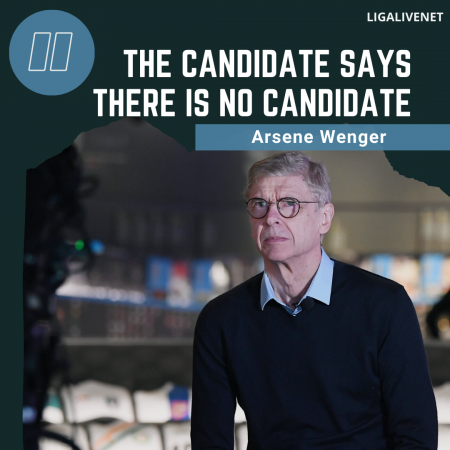 Arsene Wenger: The candidate says there is no candidate