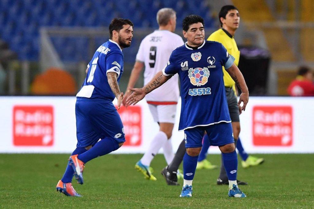 Moppel-Ich: Diego Maradona Junior und sein weltberühmter Vater – es muss in den Genen liegen.