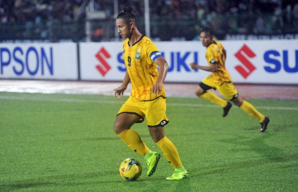 Faiq Bolkiah am 18. Oktober 2016 beim Länderspiel Kambodscha gegen Brunei.