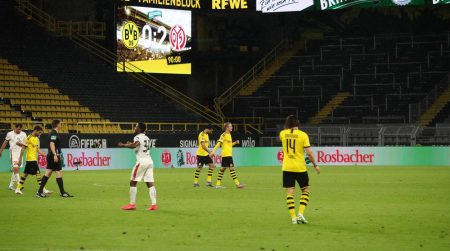 Borussia Dortmund may lose 2nd spot in Bundesliga table after Mainz secured all three points against Lucien Favre's side.