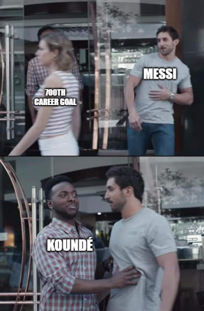 Messi 700th goal meme