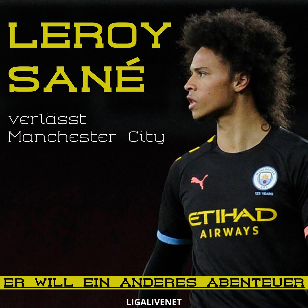 Leroy Sane verlässt Manchester City