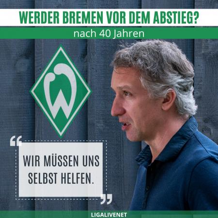 Werder Bremen vor dem Abstieg aus der Bundesliga