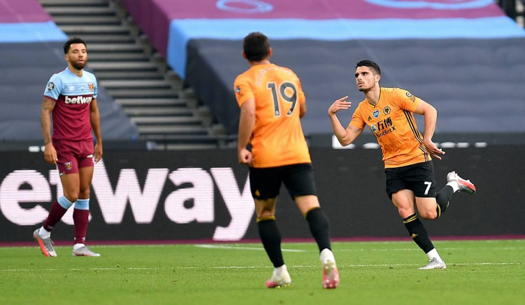 Wolves go level on points with United after West Ham win