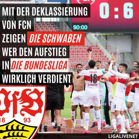Nürnberg 0:6 Stuttgart - Aufstieg in die Bundesliga