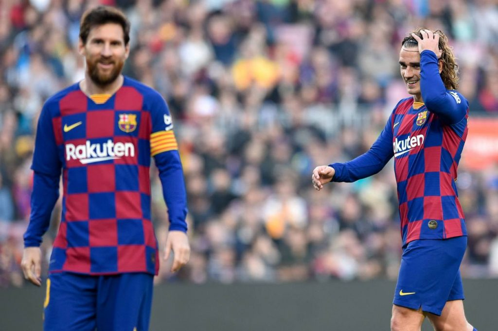 Barcelona duo have training ground bust-up