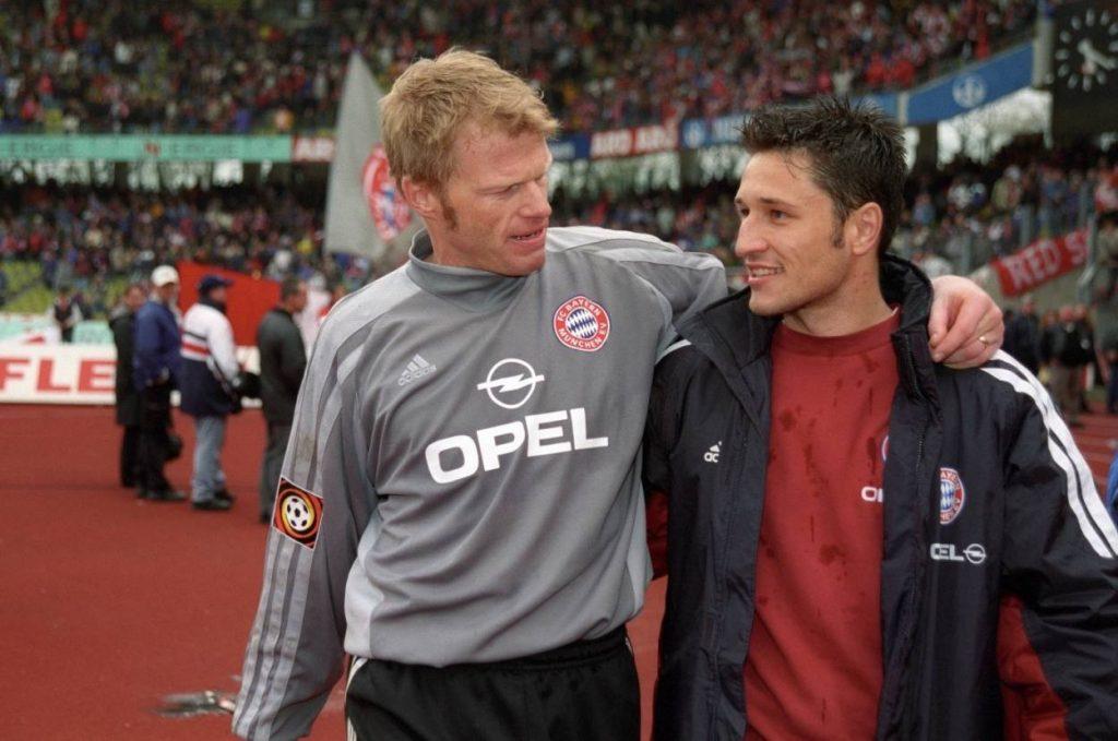 Niko Kovac (l., mit Oliver Kahn) blieb in Diensten des FC Bayern meist die Reservistenrolle.
