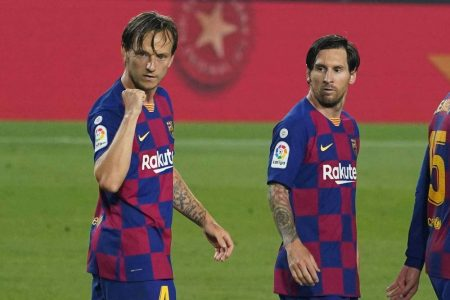 FC Barcelona are new leaders of LaLiga after they beat Athletic Bilbao by 1-0. Ivan Rakitic, from the bench, scored the winner.