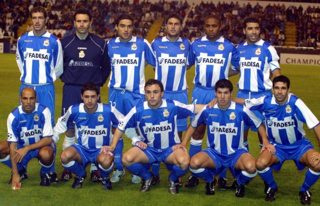 2003/2004 sorgt Deportivo La Coruna auch in der Champions League für Furore.