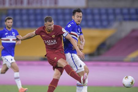 Edin Dzeko scored twice as AS Roma beat Sampdoria by 2-0. Roma are sitting fifth with six points clear in the Serie A table.