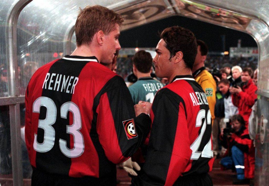Alves, im Bild mit Marko Rehmer (l.), spielte von 2000 bis 2003 in Berlin.