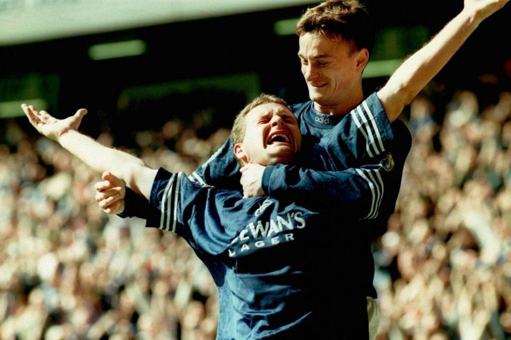 """Paul Gascoigne spielte drei Jahre für die Glasgow Rangers. Mit dem """"Nine in a Row""""-Meisterstück machte er sich 1997 bei den Schotten unsterblich."""