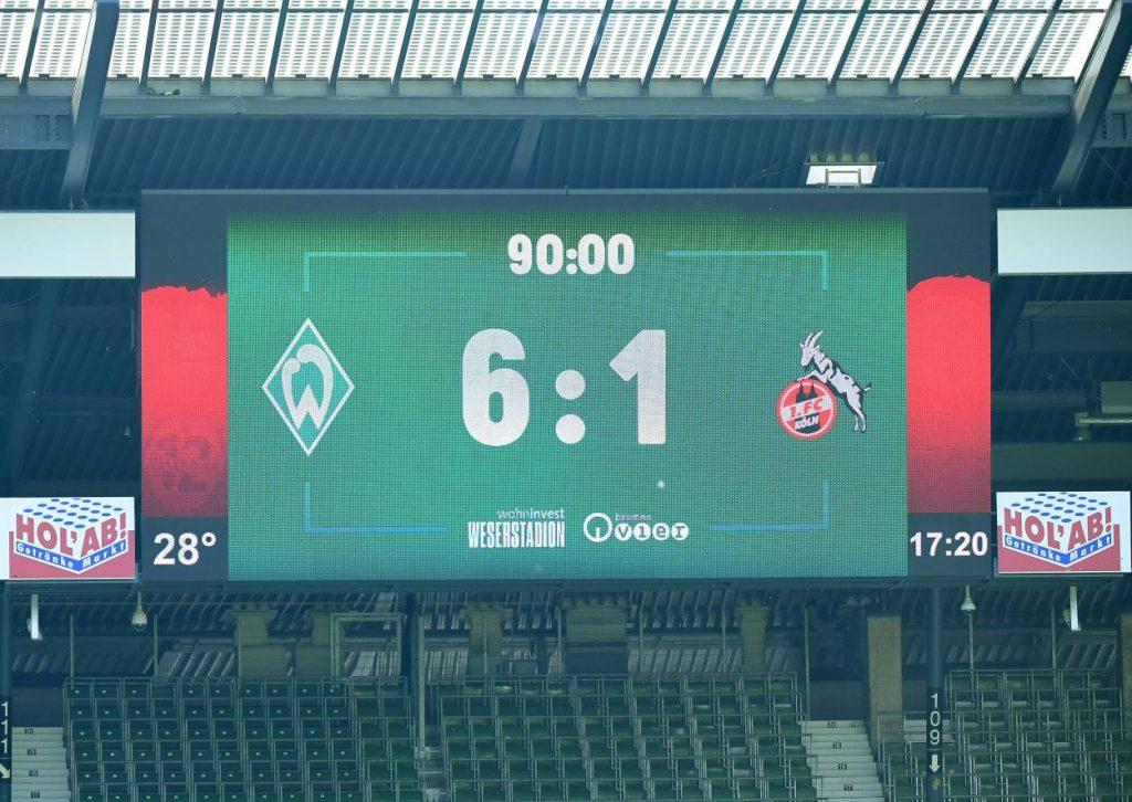 Werder Bremen claim the relegation play-off position