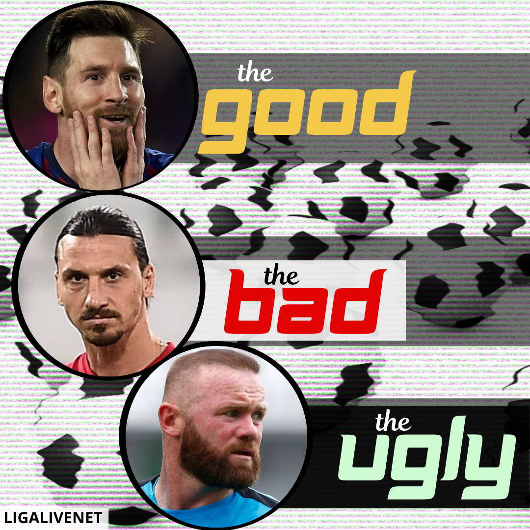 Messi, Zlatan and Rooney poster