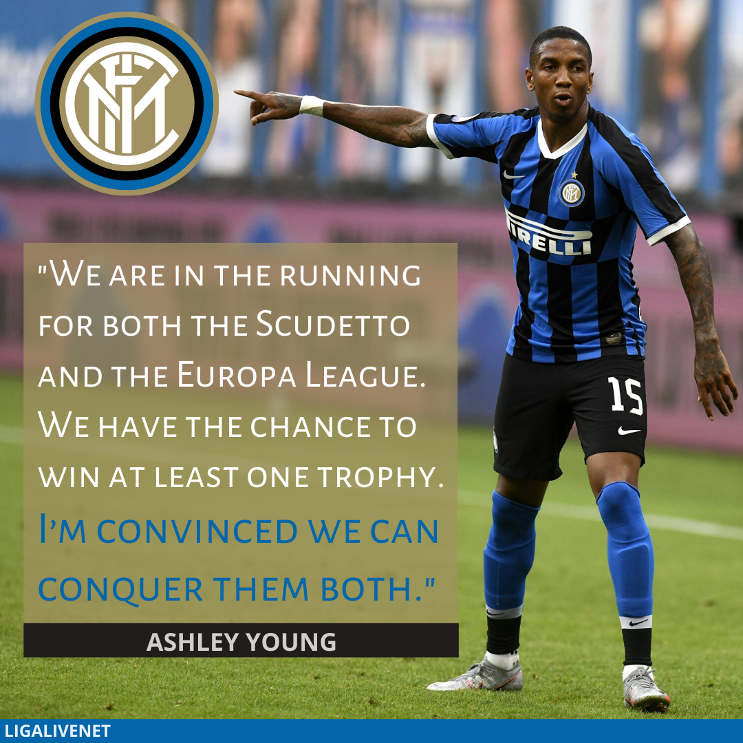 Ashley Young wants to win trophies with Inter