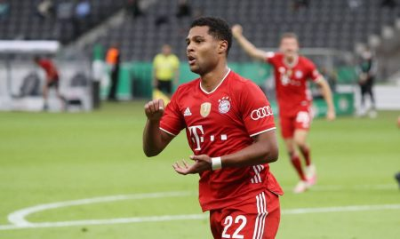 Serge Gnabry netted twice in the first leg