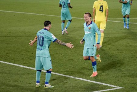 Barcelona continue to chase Real Madrid as the defending champions beat high-flying Villarreal by 4-1. Lionel Messi assisted twice in the game.