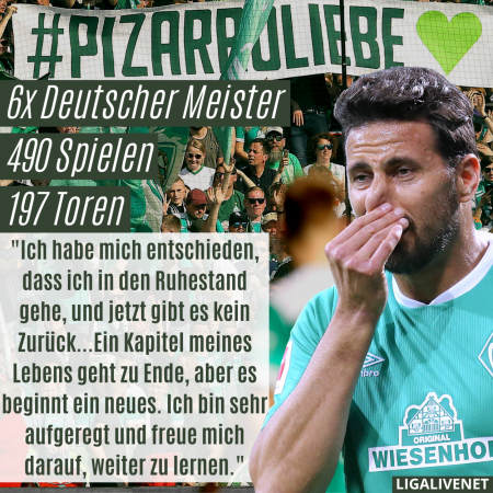 Pizarro geht in den Ruhestand