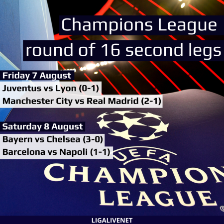 Champons league round of 16 second legs