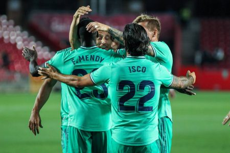 Narrow-win against Granada has put Real Madrid inches away from 34th La Liga title. Karim Benzema and Ferland Mendy scored for Los Blancos.