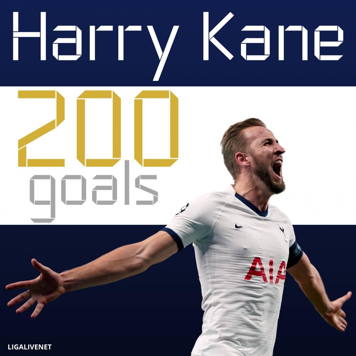 200 goals Harry Kane