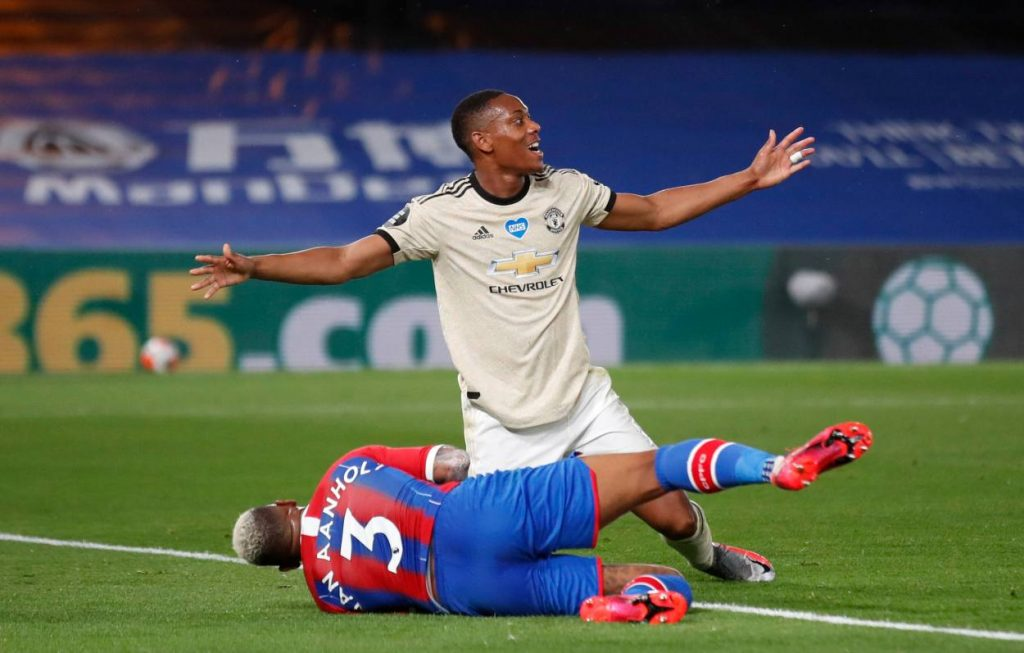 Anthony Martial Crystal Palace Manchester United