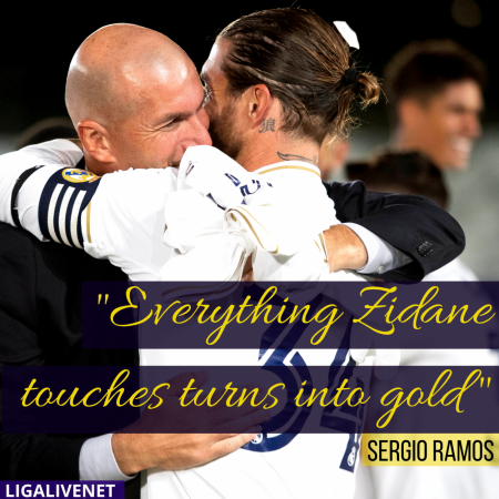 Sergio Ramos on Zidane: Everything Zidane touches turns into gold