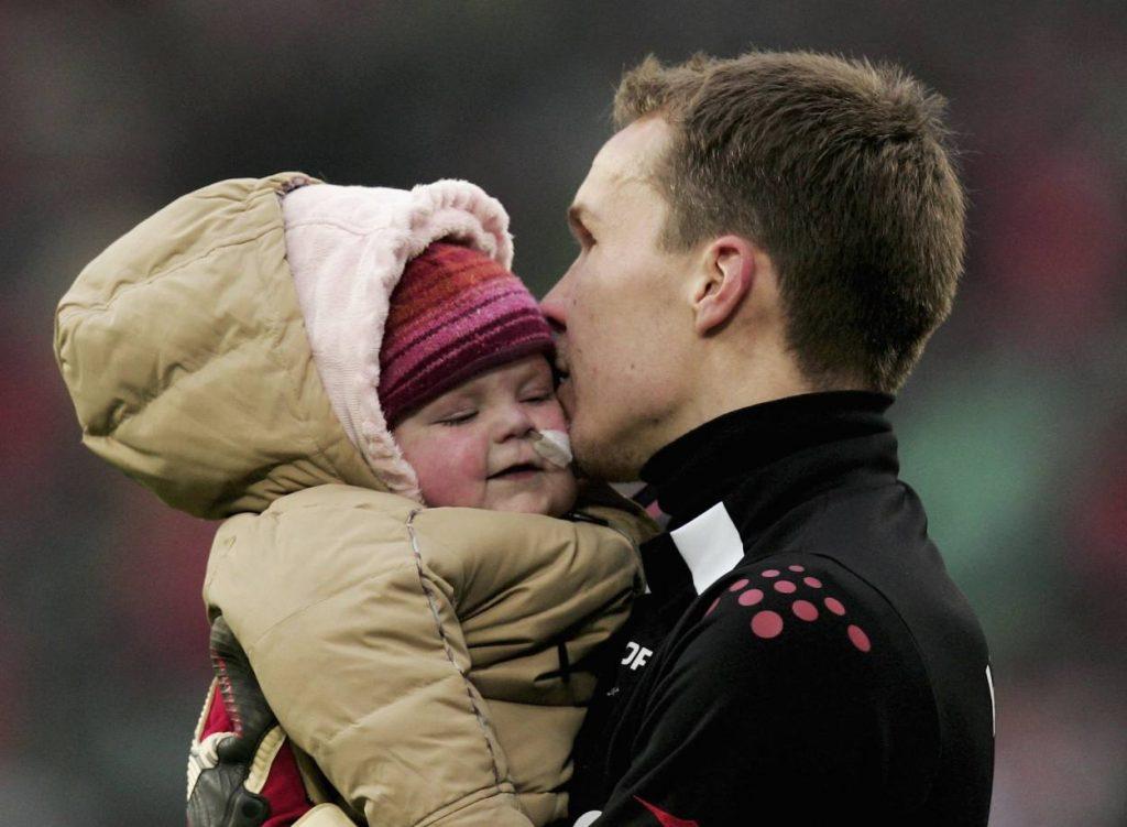 Robert Enke mit Tochter