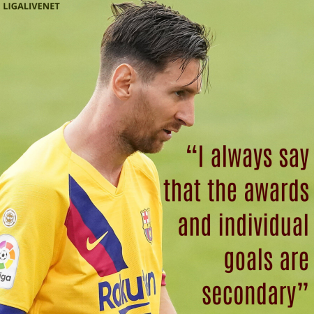 Messi Quote on becoming the seventh Pichichi