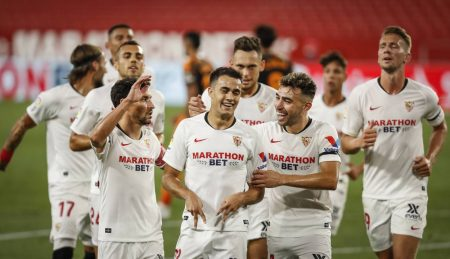 Sergio Reguilon scored the winner as Sevilla beat Valencia by 1-0 in the final game of the season. Valencia missed out on Europa League qualification.