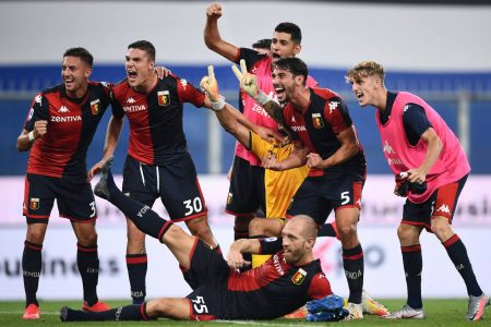 Lukas Lerager scored late winner as Genoa beat Sampdoria by 2-1 and move four points clear from the relegation zone with 36 points.