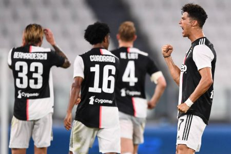 Cristiano Ronaldo help Juventus win their ninth consecutive Serie A title as former Real Madrid forward scored in a 2-0 win over Sampdoria.