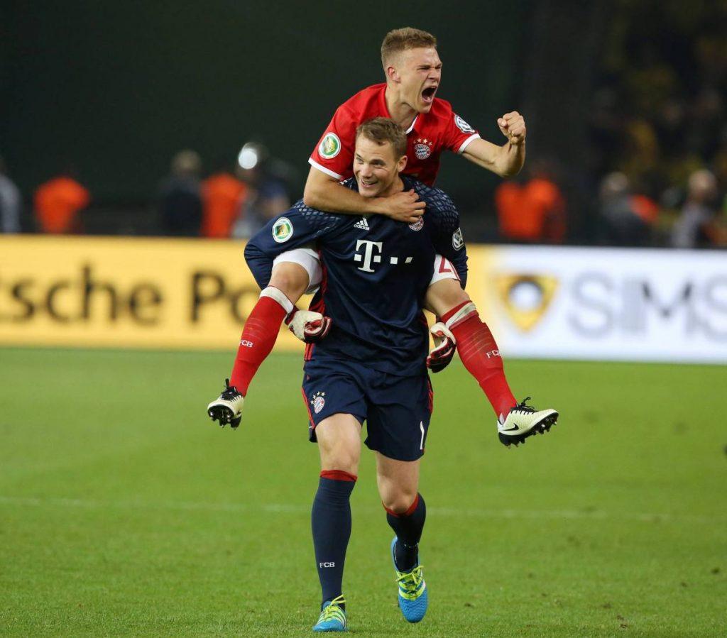 Joshua Kimmich Manuel Neuer FC Bayern München Pokalfinale 2016