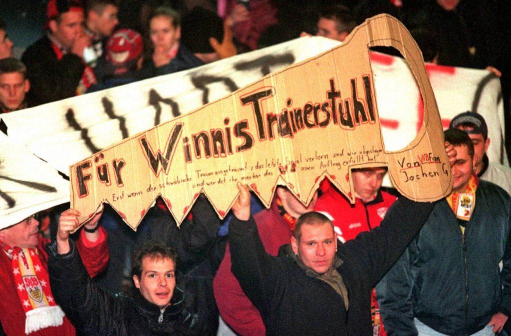 VfB Stuttgart Fans Winfried Schäfer 1998