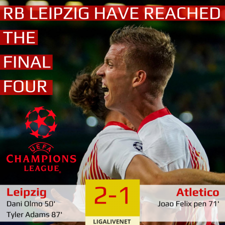 RB Leipzig UEFA final four
